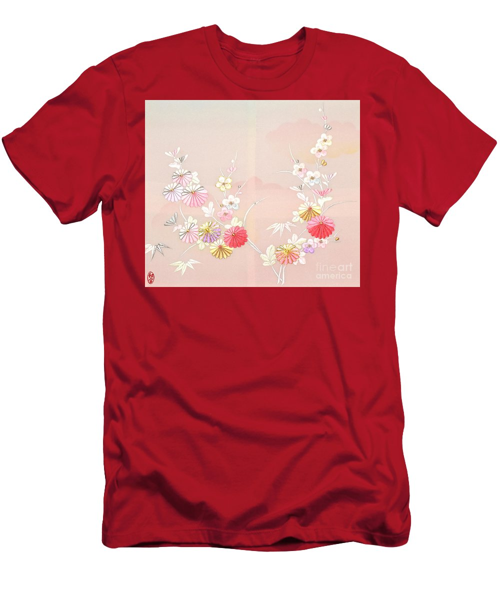 T-Shirt featuring the digital art Spirit of Japan H17 by Miho Kanamori