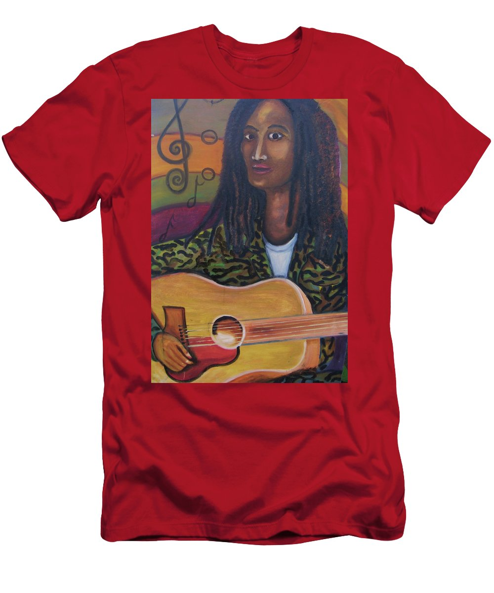 T-Shirt featuring the painting Abstract Music by Andrew Johnson