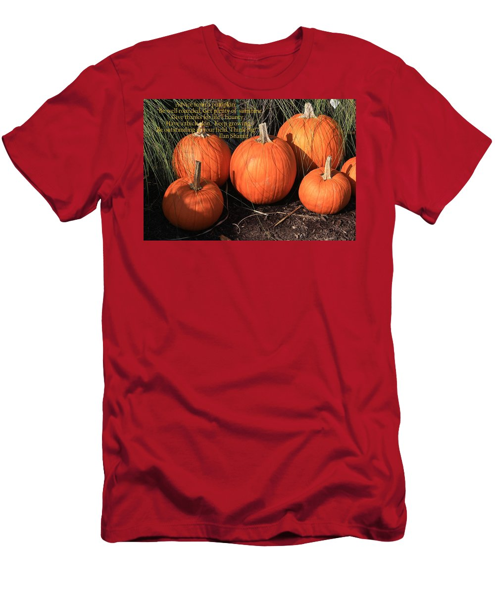 Pumpkin Carving Men's T-Shirt (Athletic Fit) featuring the photograph The Pumpkin Patch by Dora Sofia Caputo Photographic Design and Fine Art