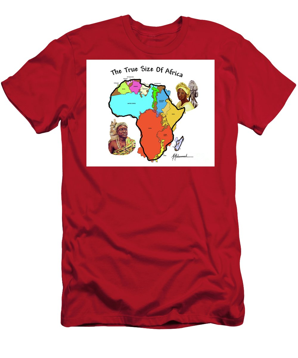 Africa T-Shirt featuring the painting Africa In Perspective by Marcella Muhammad