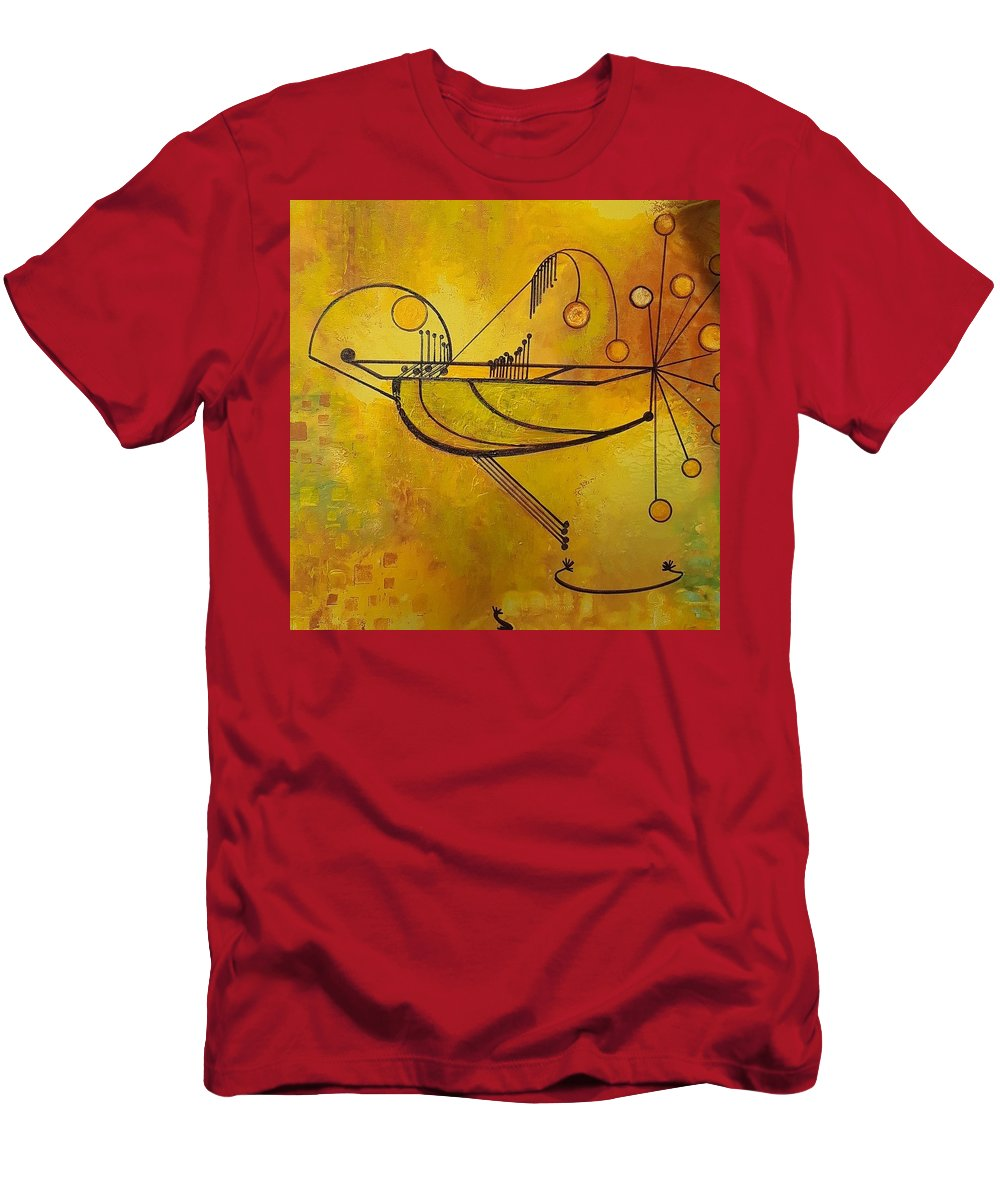 T-Shirt featuring the painting Balancing by Carol P Kingsley