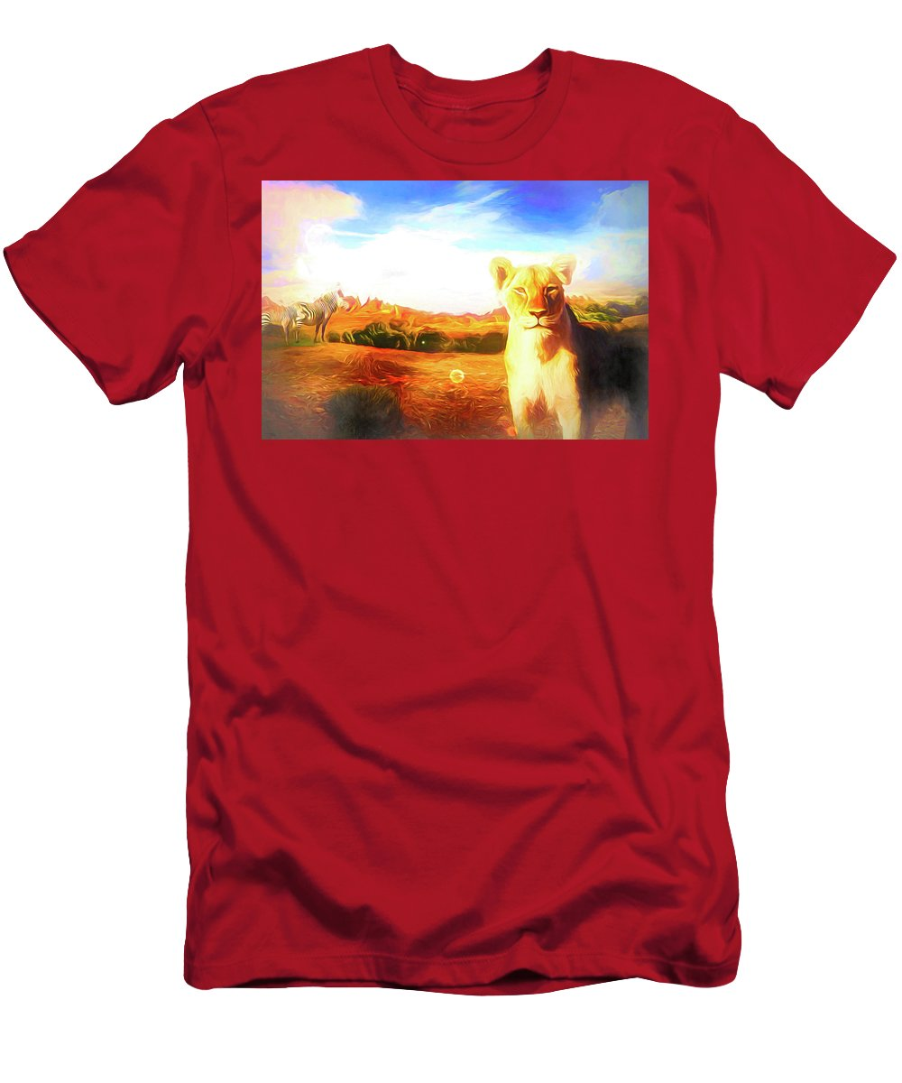 Afrika T-Shirt featuring the digital art Be Careful by Jasmina Seidl