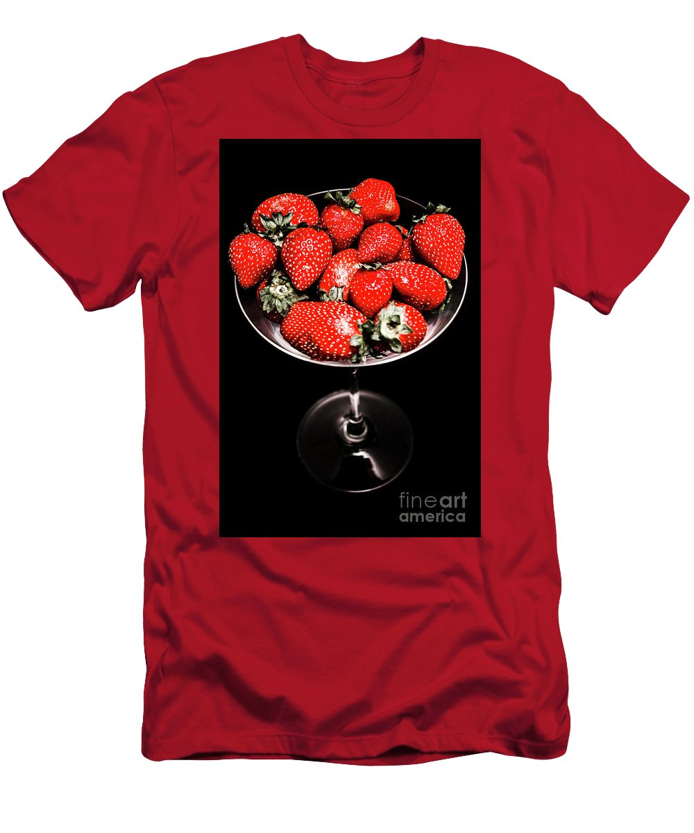 Food Men's T-Shirt (Athletic Fit) featuring the photograph Berry Tonic by Jorgo Photography - Wall Art Gallery