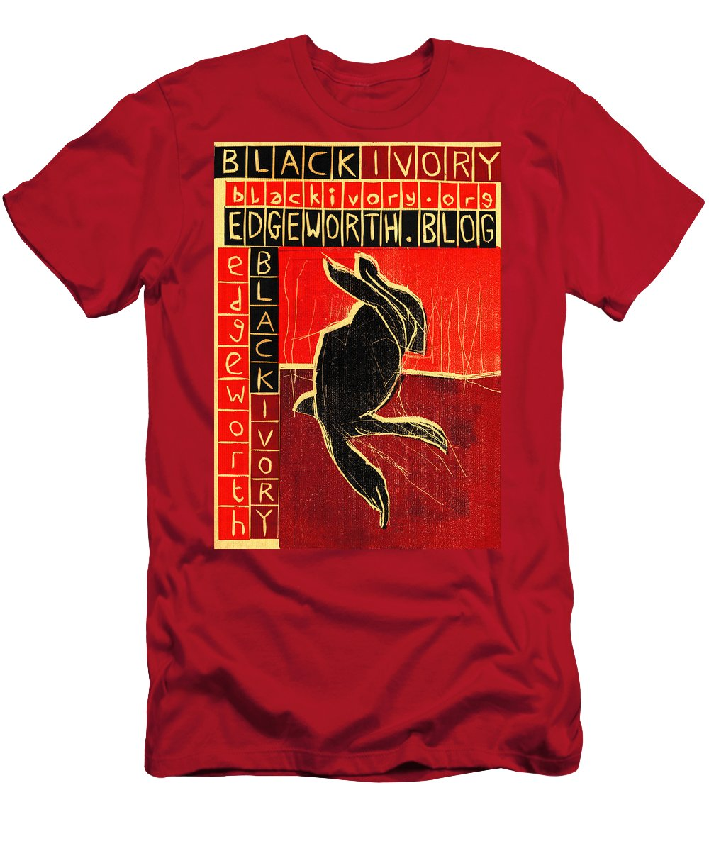 Poster Men's T-Shirt (Athletic Fit) featuring the relief Black Ivory Rabbit by Artist Dot