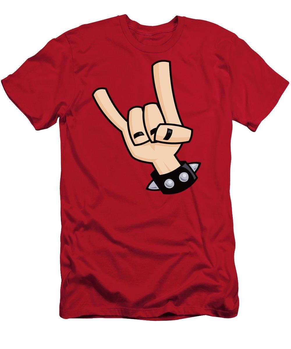 Rock T-Shirt featuring the digital art Devil Horns by John Schwegel