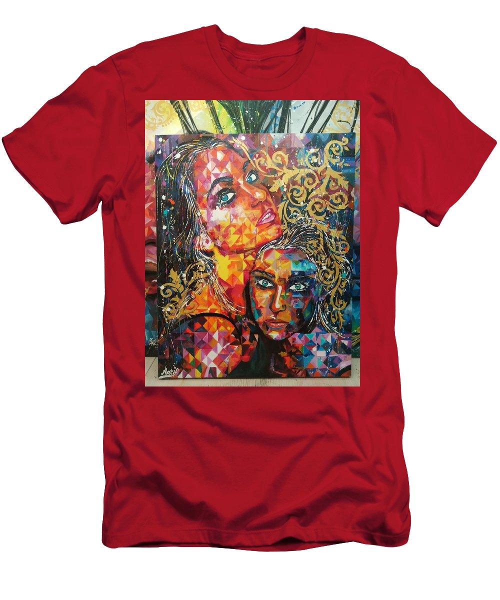 Acrylic Painting And Canvas Size 25 X 31 Inches Men's T-Shirt (Athletic Fit) featuring the painting Expressions by Aatif Sayed