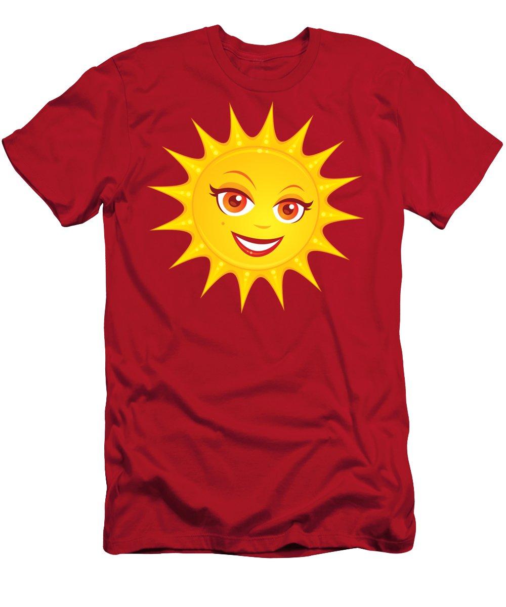 Beach T-Shirt featuring the digital art Hot Summer Sun by John Schwegel