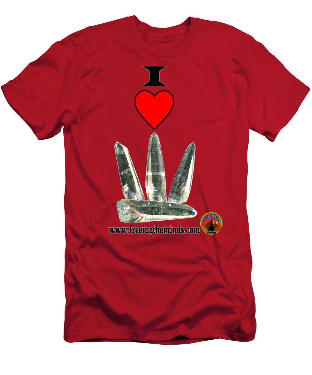 Lemurian Seed Crystals Brazil T-Shirt featuring the digital art I Love Lemurian Seed Crystals by Odalo Wasikhongo