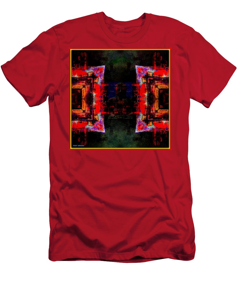 Imagery In Healing In A Buddhism Way Men's T-Shirt (Athletic Fit) featuring the digital art imagery in healing in a Buddhism way by Tony Adamo