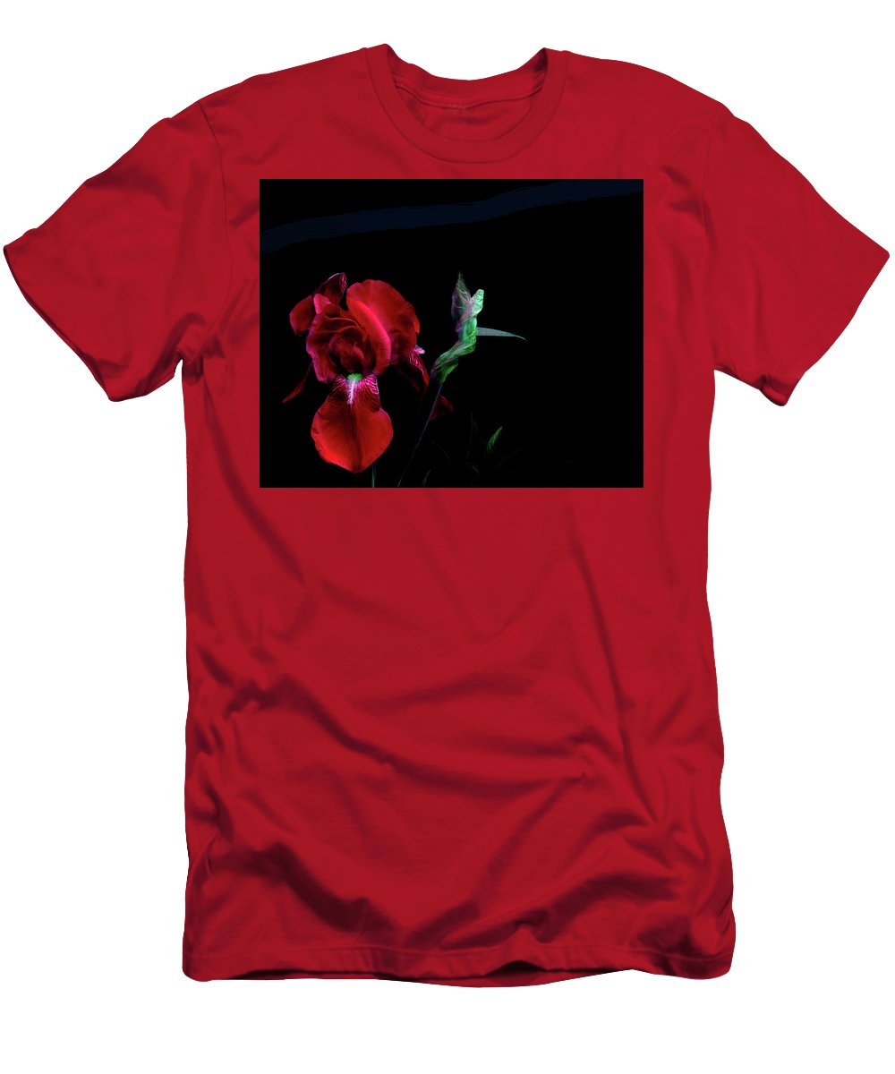 Iris T-Shirt featuring the photograph Innuendos by Cynthia Dickinson
