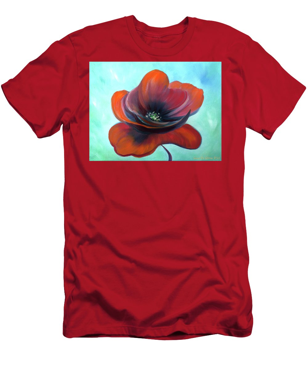 Poppy Men's T-Shirt (Athletic Fit) featuring the painting Lady Poppy by Gina De Gorna