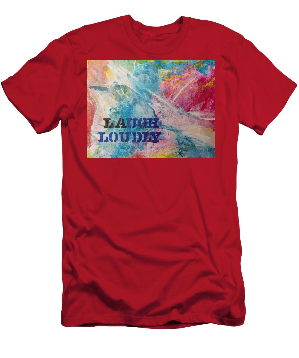 Bright Men's T-Shirt (Athletic Fit) featuring the painting Laugh Loudly by A Bacia