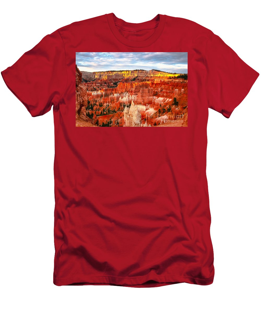 Bryce Canyon Men's T-Shirt (Athletic Fit) featuring the photograph Mo Jo Rising by Phil Cappiali Jr