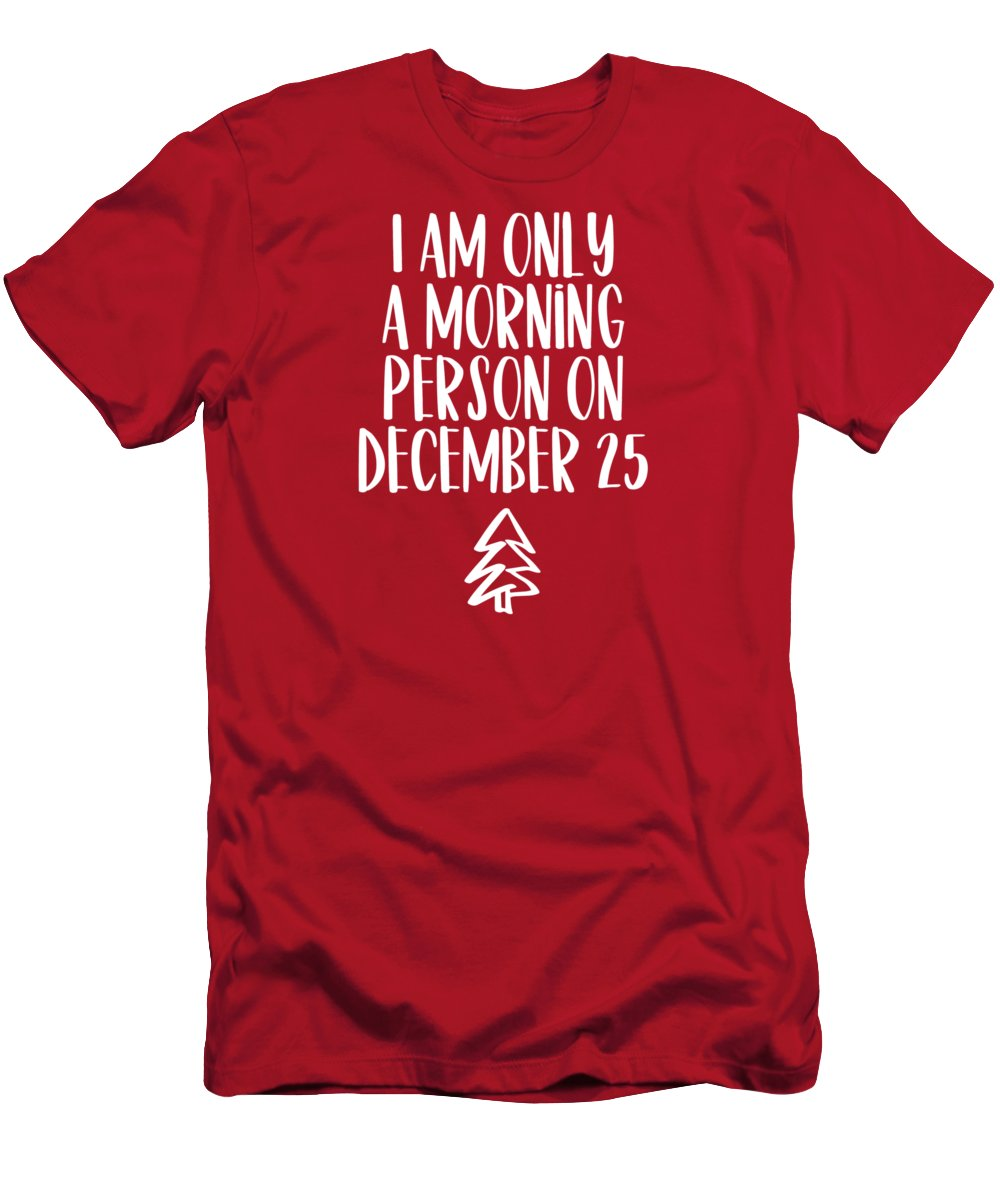 December Men's T-Shirt (Athletic Fit) featuring the mixed media Morning Person by Nancy Ingersoll