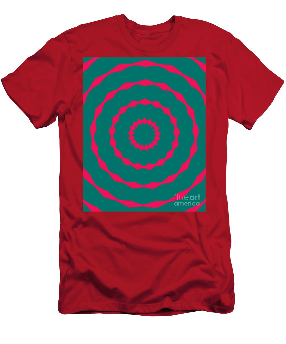 Round Men's T-Shirt (Athletic Fit) featuring the painting Ornament Number Five by Alex Caminker