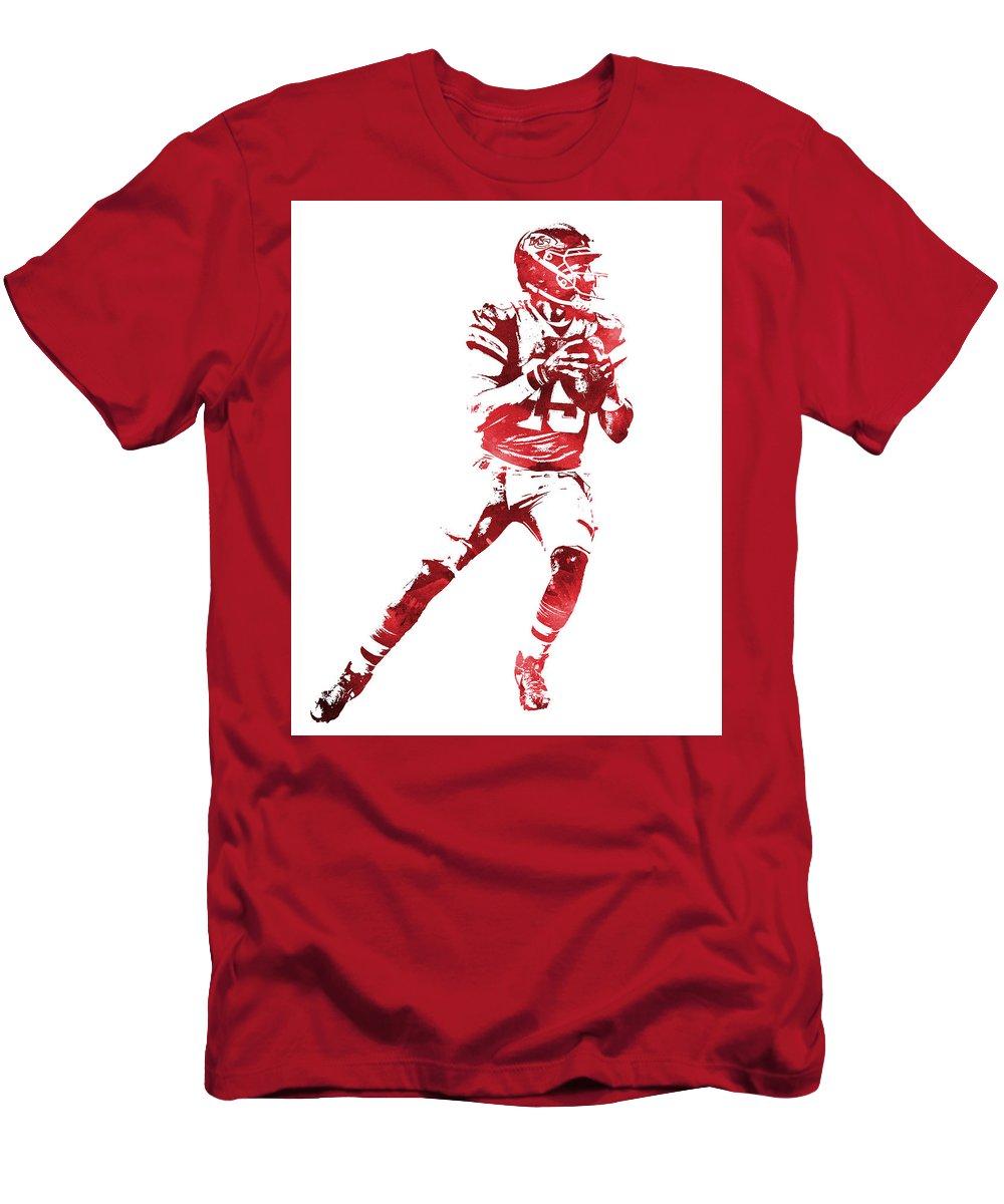 c7d55a91f46 Patrick Mahomes Kansas City Chiefs Water Color Pixel Art 11 T-Shirt for  Sale by Joe Hamilton