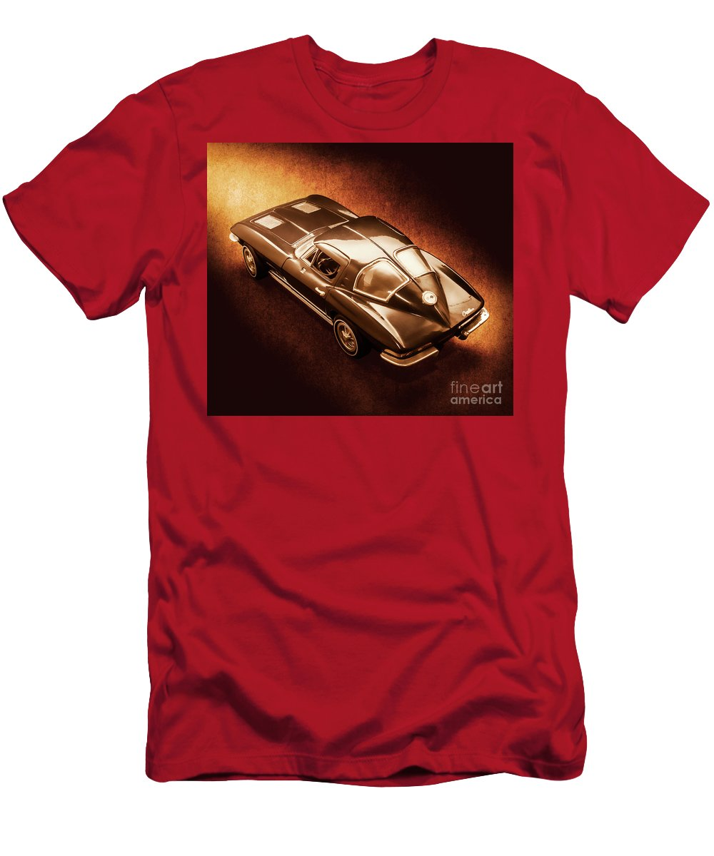 Chevrolet Men's T-Shirt (Athletic Fit) featuring the photograph Ray Tail by Jorgo Photography - Wall Art Gallery