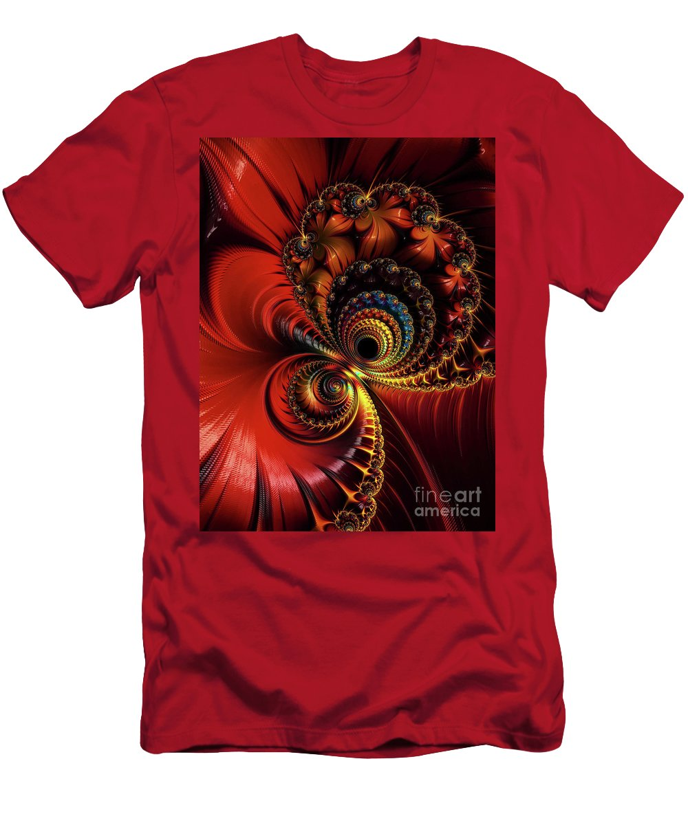 Frax Men's T-Shirt (Athletic Fit) featuring the digital art Scarlet O'hare. by Minnetta Heidbrink