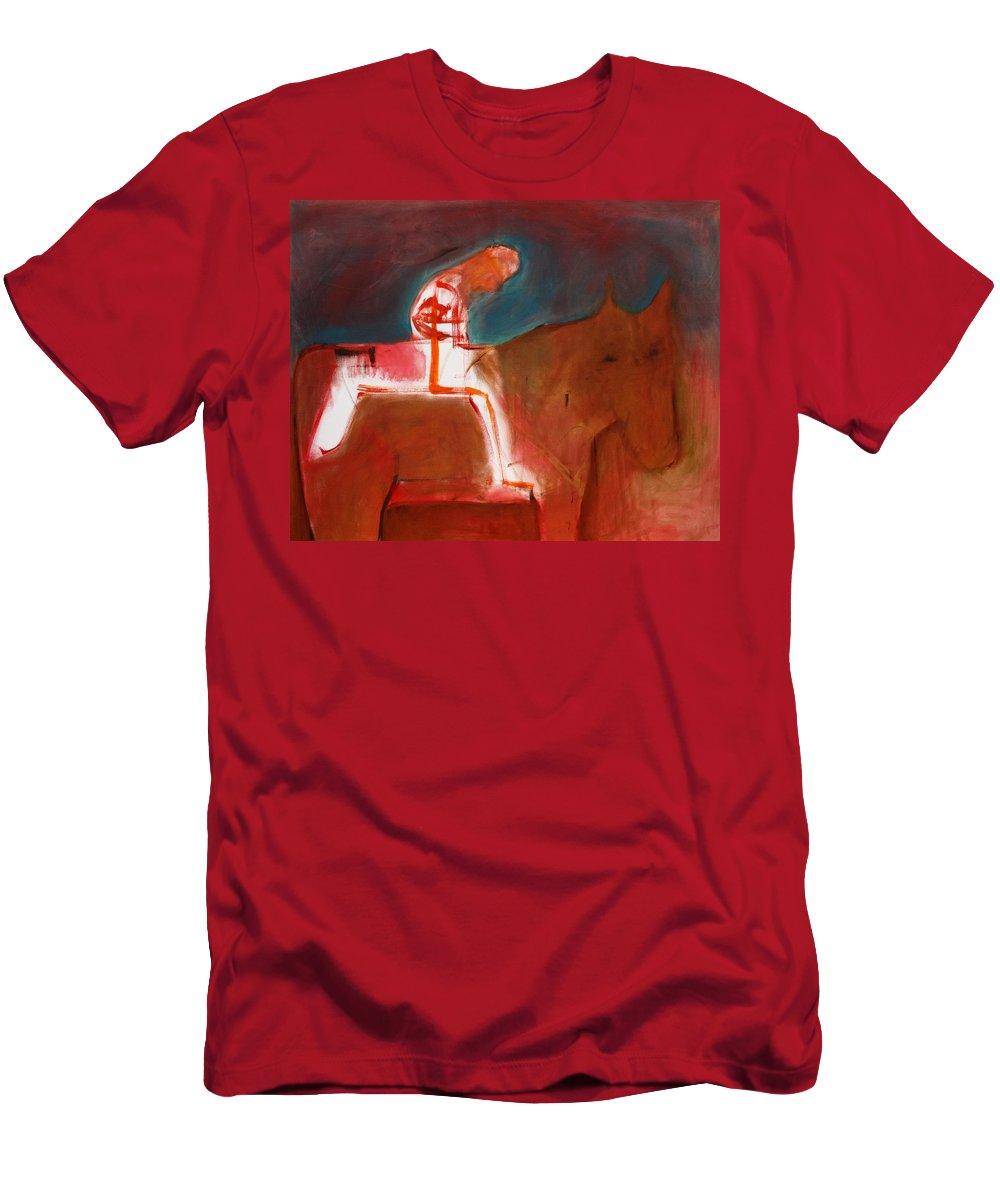 Soldier Men's T-Shirt (Athletic Fit) featuring the painting Soldier by Artist Dot