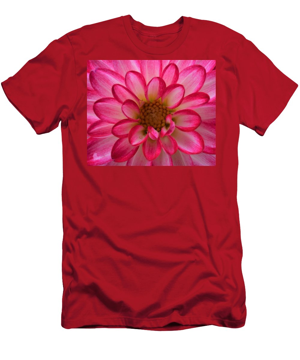 Dahlia Flowers Men's T-Shirt (Athletic Fit) featuring the photograph Sweetie by Loretta Bueno