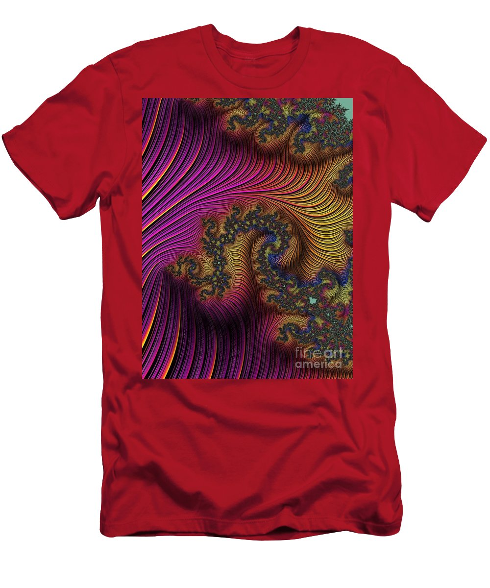 Digital Art Men's T-Shirt (Athletic Fit) featuring the photograph The Dragon by Minnetta Heidbrink