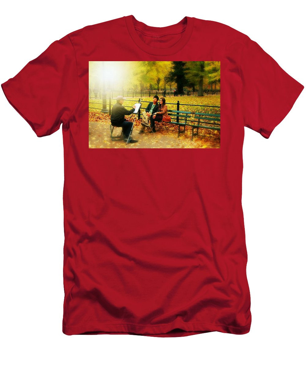 Landscape Men's T-Shirt (Athletic Fit) featuring the photograph The Portraiture by Diana Angstadt