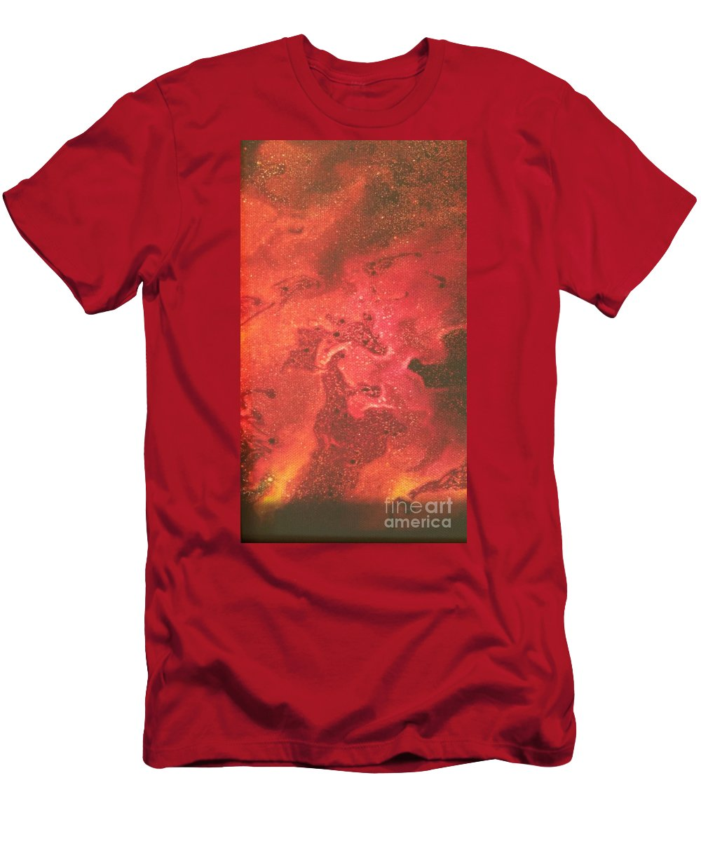 Acrylic T-Shirt featuring the photograph Tongues Of Fire by Paola Baroni