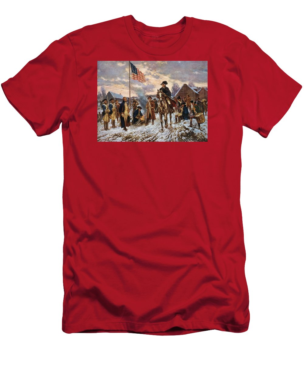George Washington T-Shirt featuring the painting Washington at Valley Forge by War Is Hell Store