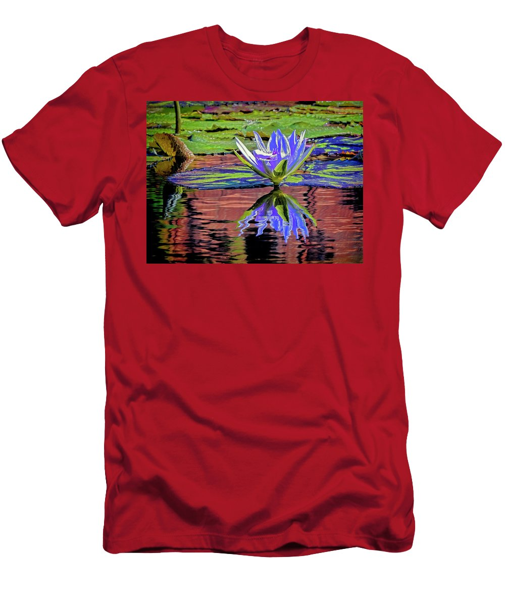 California Men's T-Shirt (Athletic Fit) featuring the photograph Water Lily10 by Claude LeTien