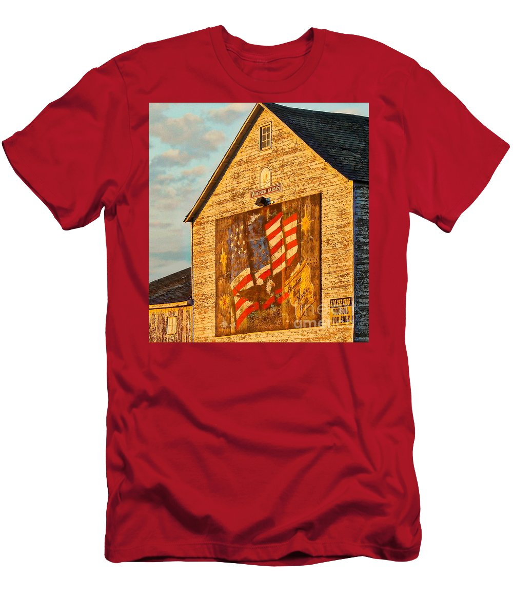 Barn T-Shirt featuring the photograph American Summer by Tami Quigley