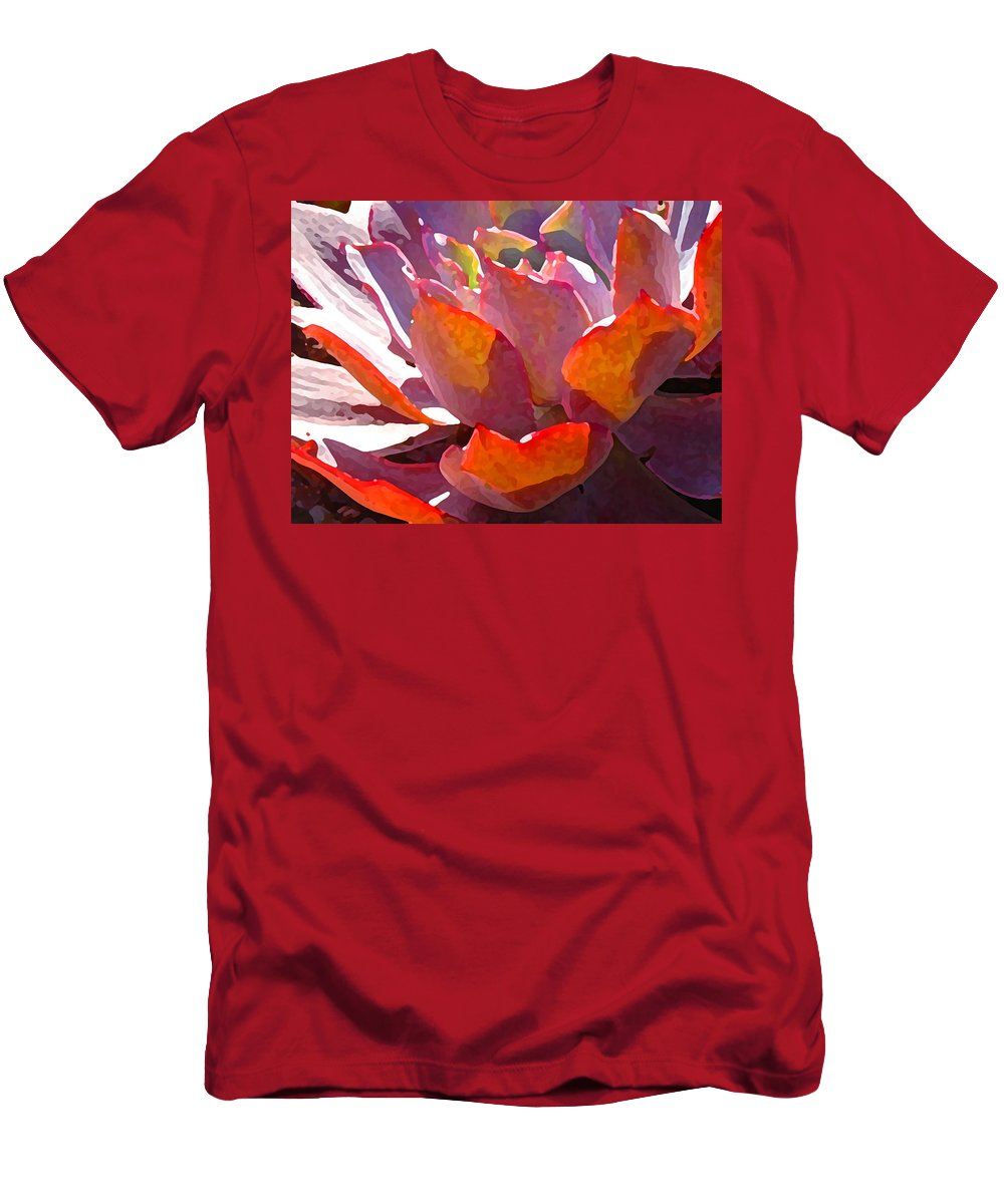 Succulent T-Shirt featuring the photograph Backlit Afterglow Succulent by Amy Vangsgard