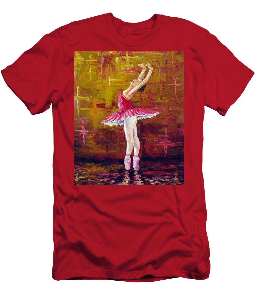 Ballet T-Shirt featuring the painting Ballerina by David G Paul