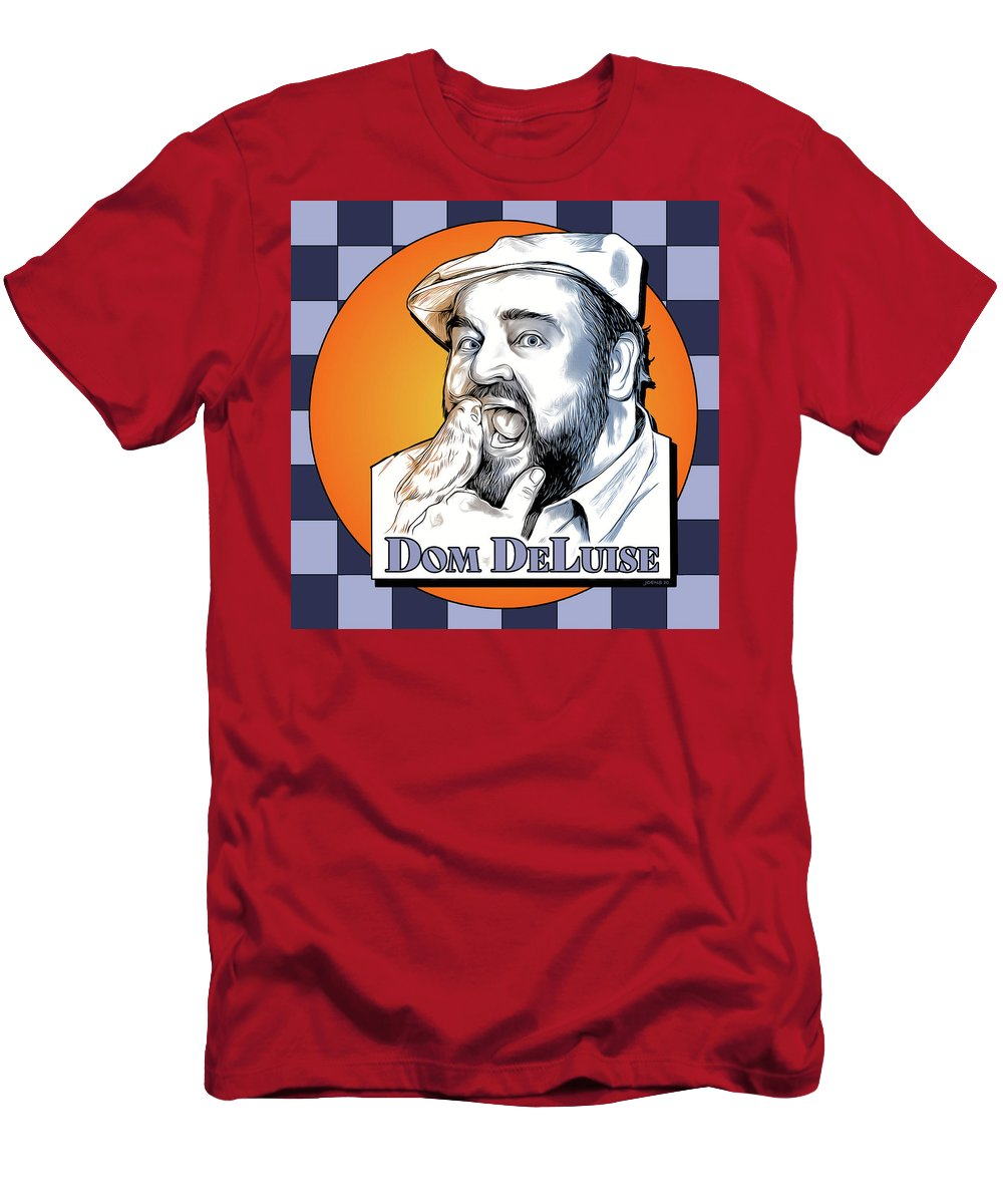 Dom Deluise T-Shirt featuring the digital art Dom and the Bird by Greg Joens