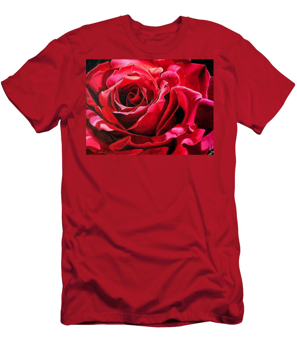 Rose Painting T-Shirt featuring the painting Labelle Rose    by Karin Dawn Kelshall- Best