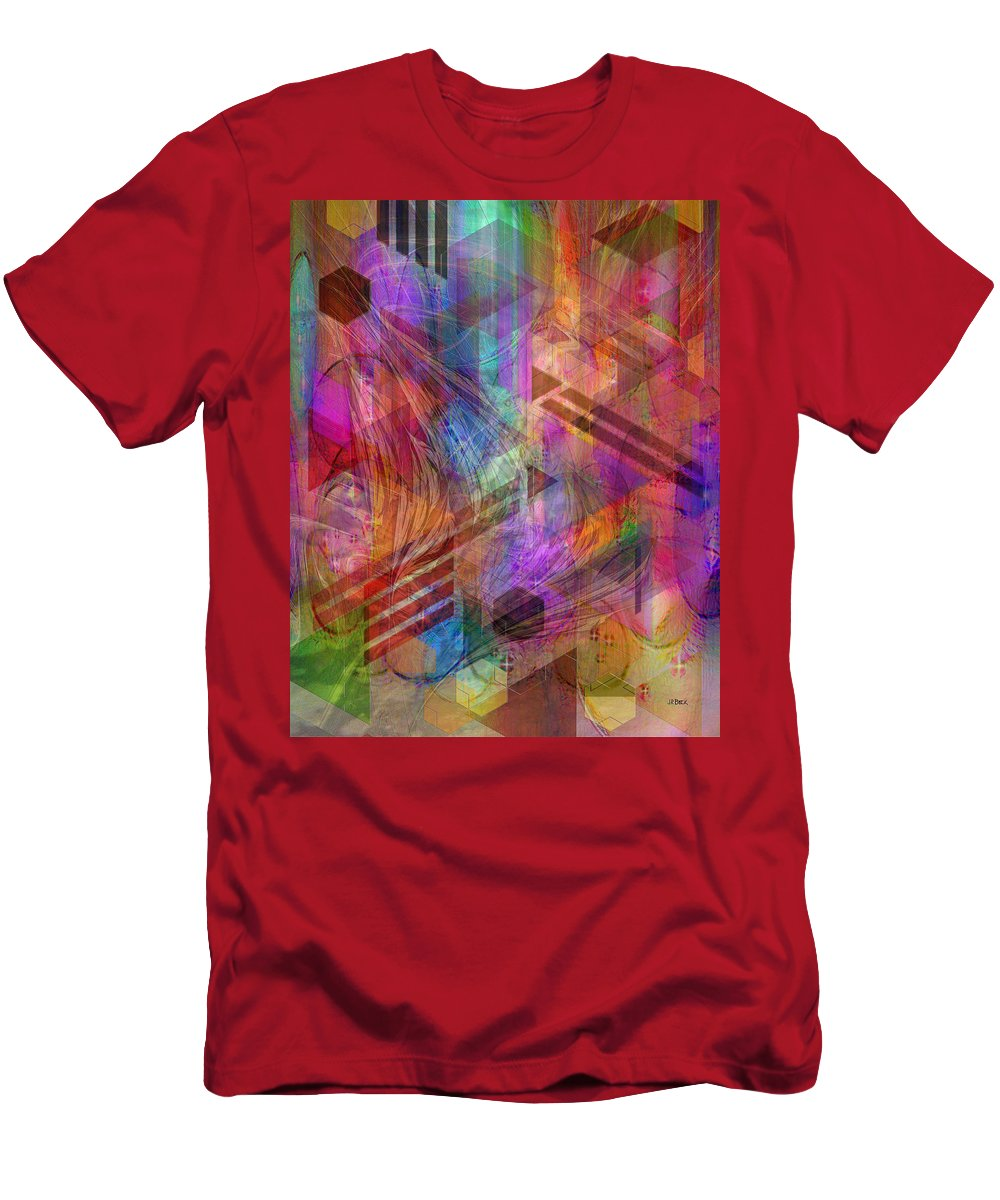 Magnetic Abstraction T-Shirt featuring the digital art Magnetic Abstraction by John Robert Beck