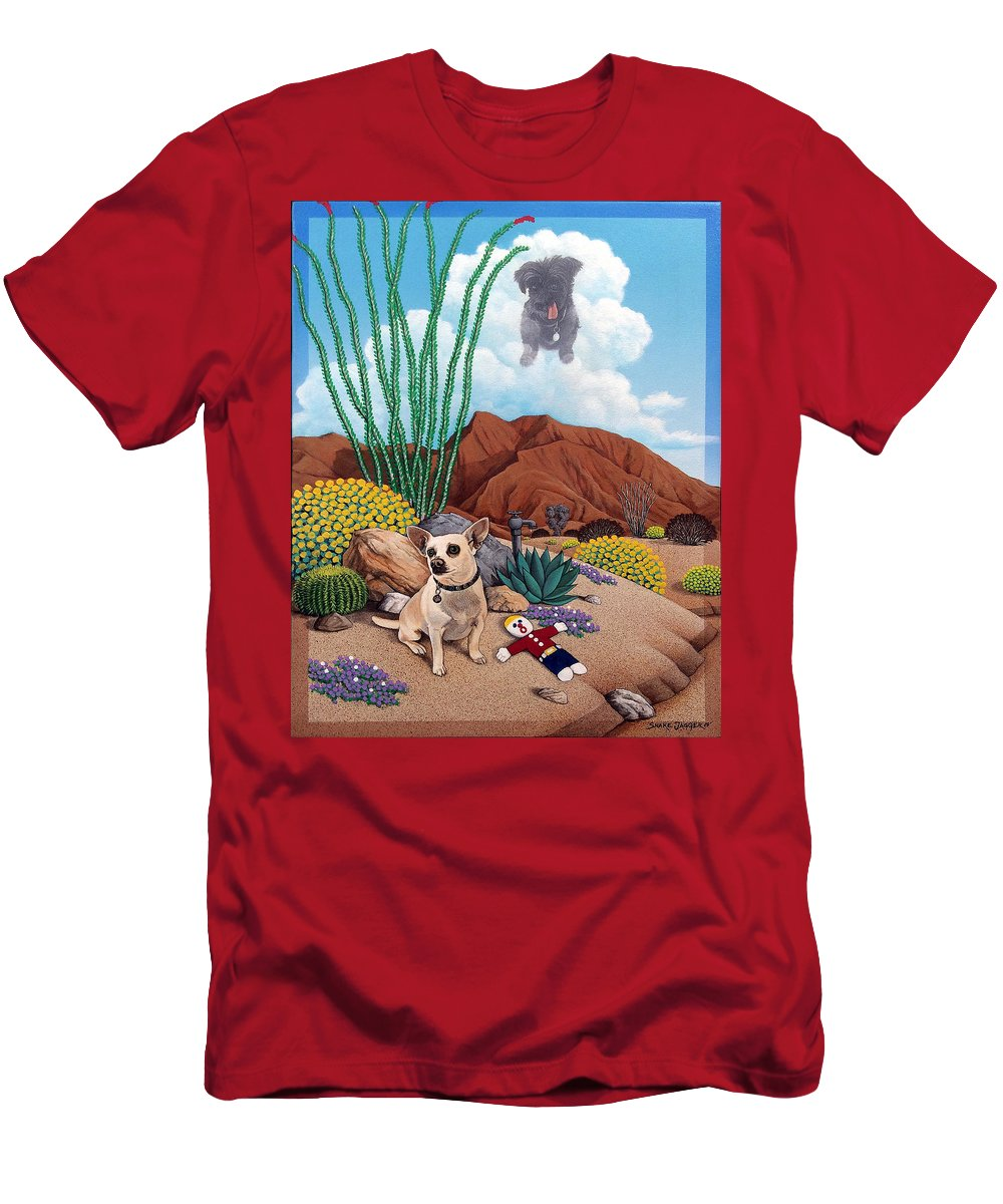 Pet T-Shirt featuring the painting Noel,Harley,and Mr.Bill by Snake Jagger