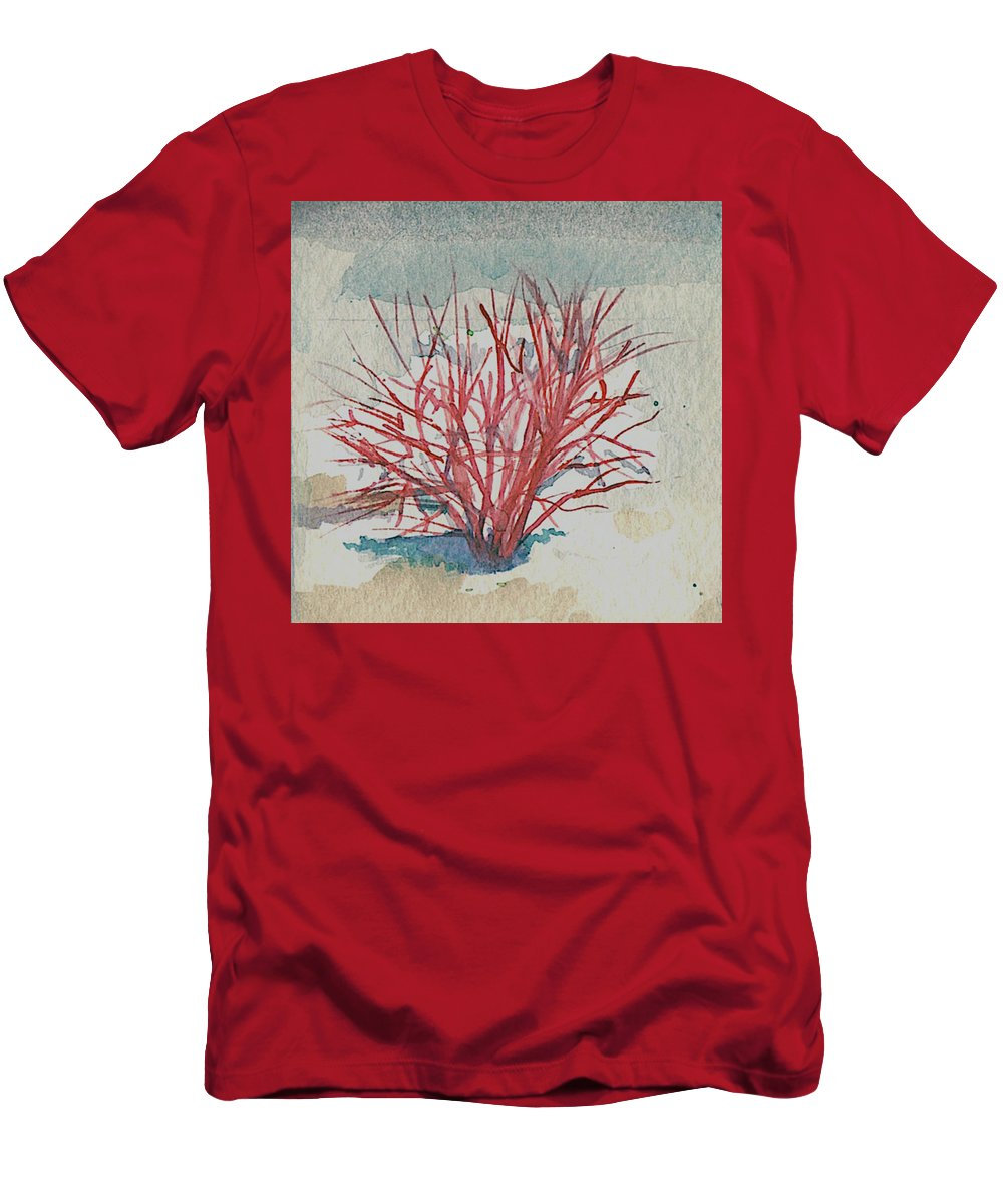 Art T-Shirt featuring the painting Red Osier Dogwood by Elle Smith Fagan