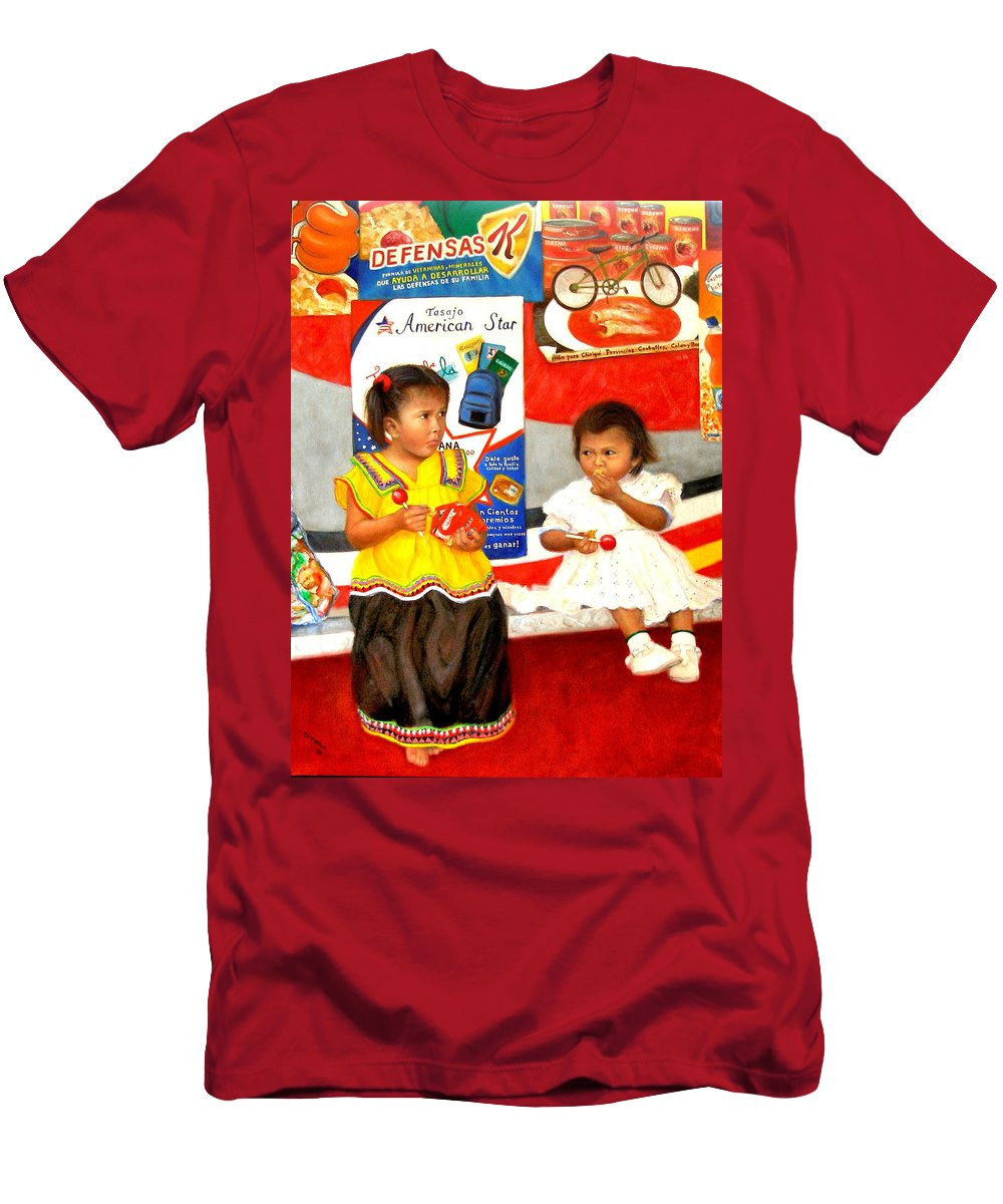 Realism T-Shirt featuring the painting Same by Donelli DiMaria