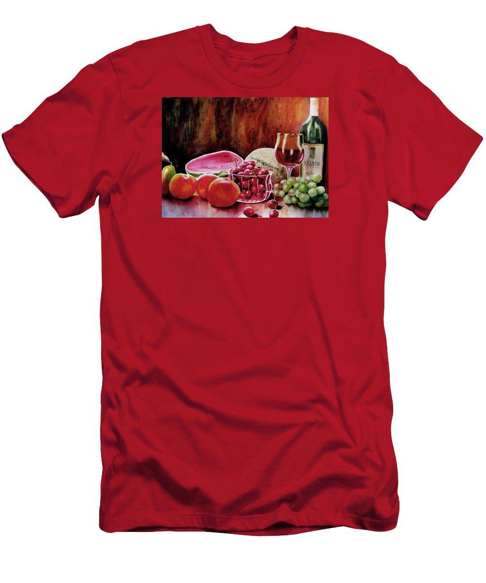 Wine T-Shirt featuring the painting Summer Syrah by Karen Stark
