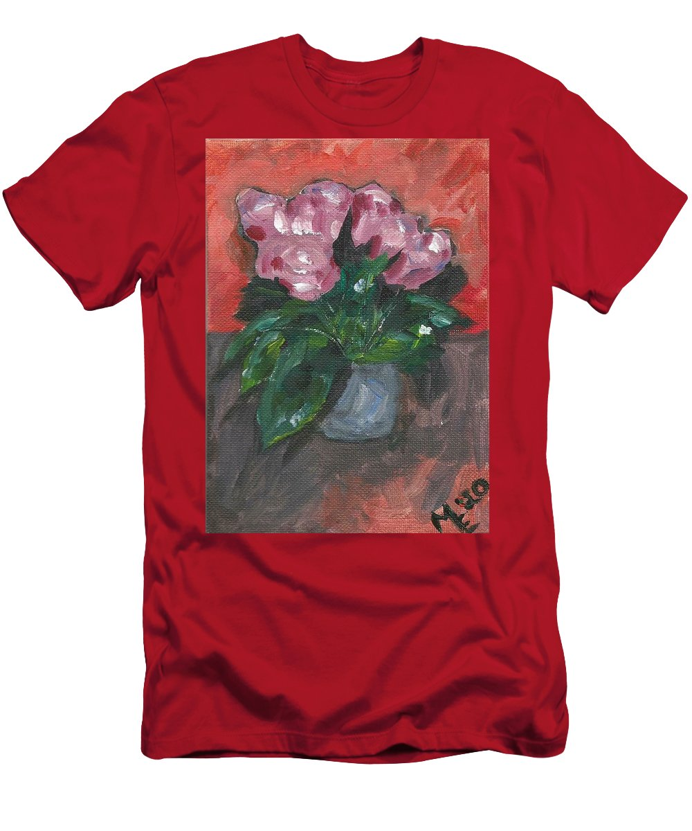 Rose T-Shirt featuring the painting Vase of Roses by Monica Resinger