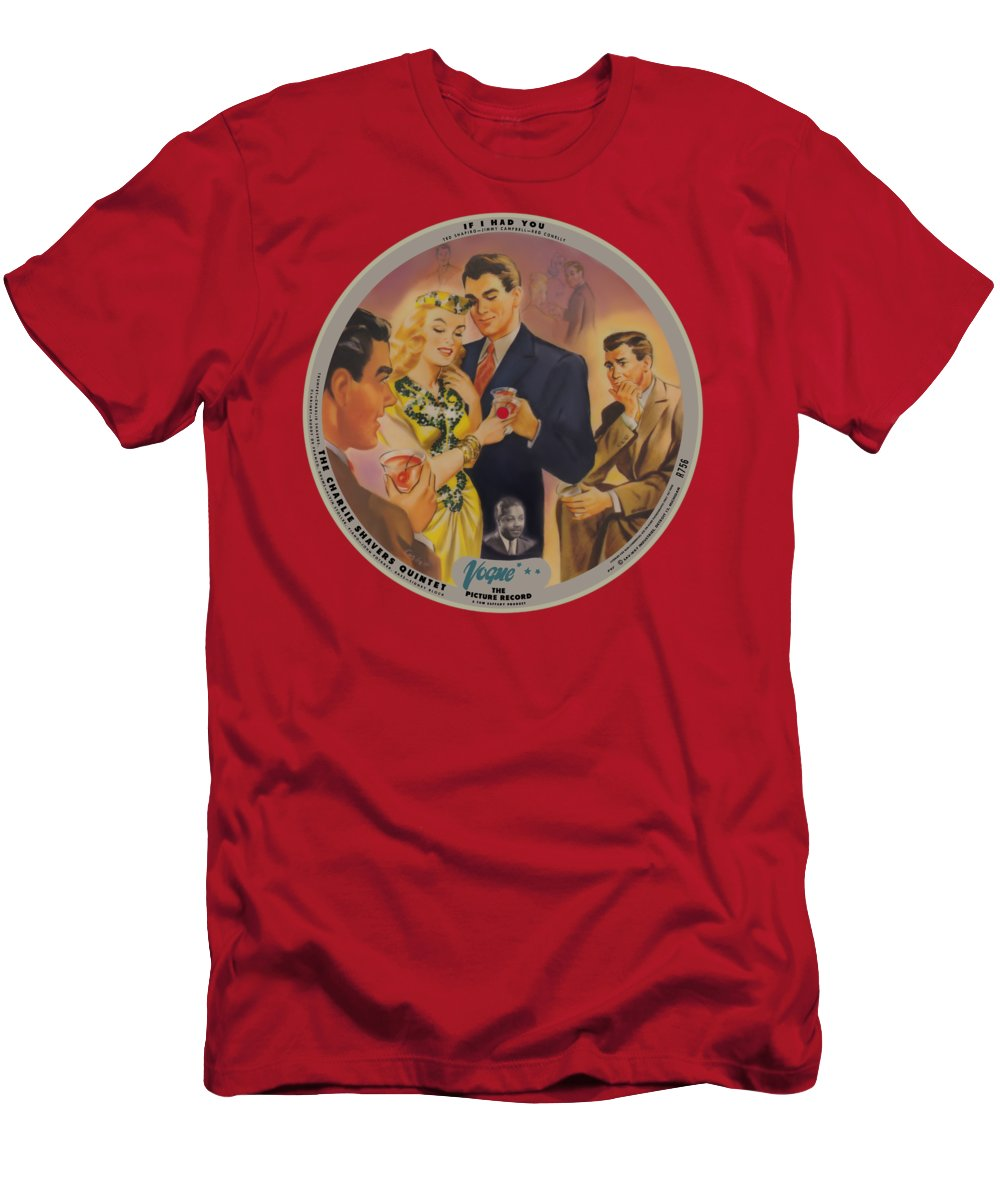 Vogue Picture Record T-Shirt featuring the digital art Vogue Record Art - R 756 - P 97 - Square Version by John Robert Beck