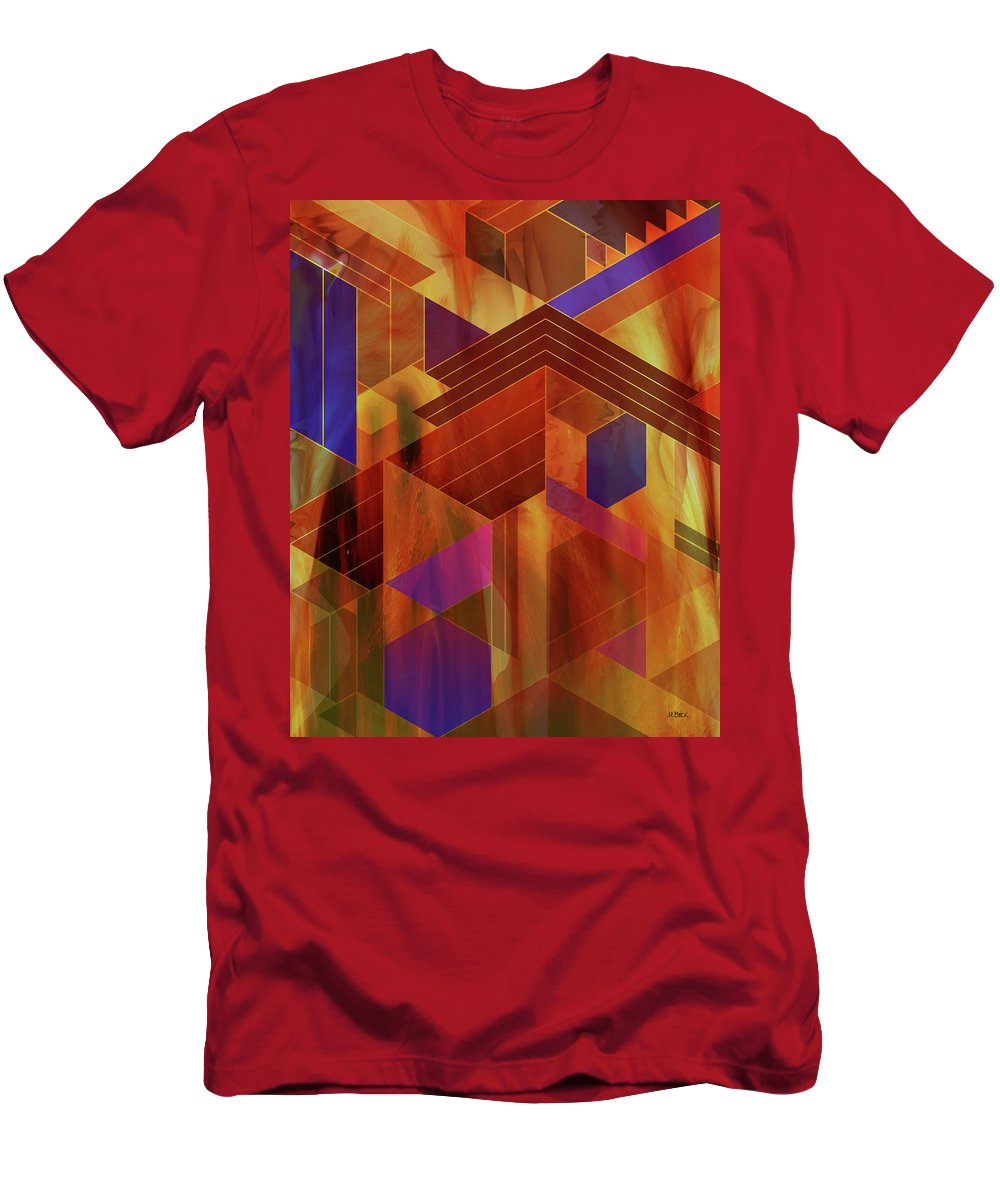 Wrightian Reflections T-Shirt featuring the digital art Wrightian Reflections by Studio B Prints