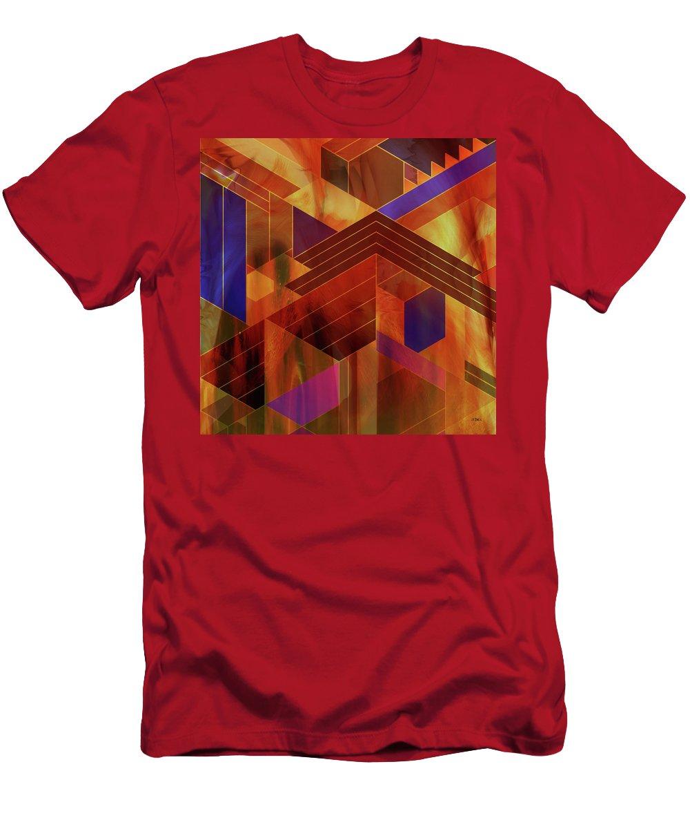 Frank Lloyd Wright T-Shirt featuring the digital art Wrightian Reflections - Square Version by Studio B Prints