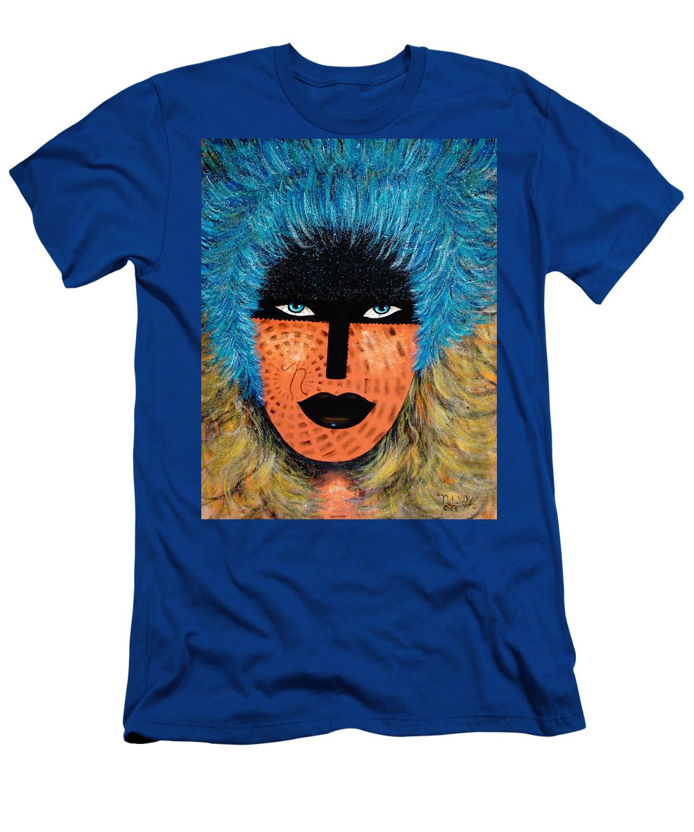 Woman Men's T-Shirt (Athletic Fit) featuring the painting Viva Niva by Natalie Holland