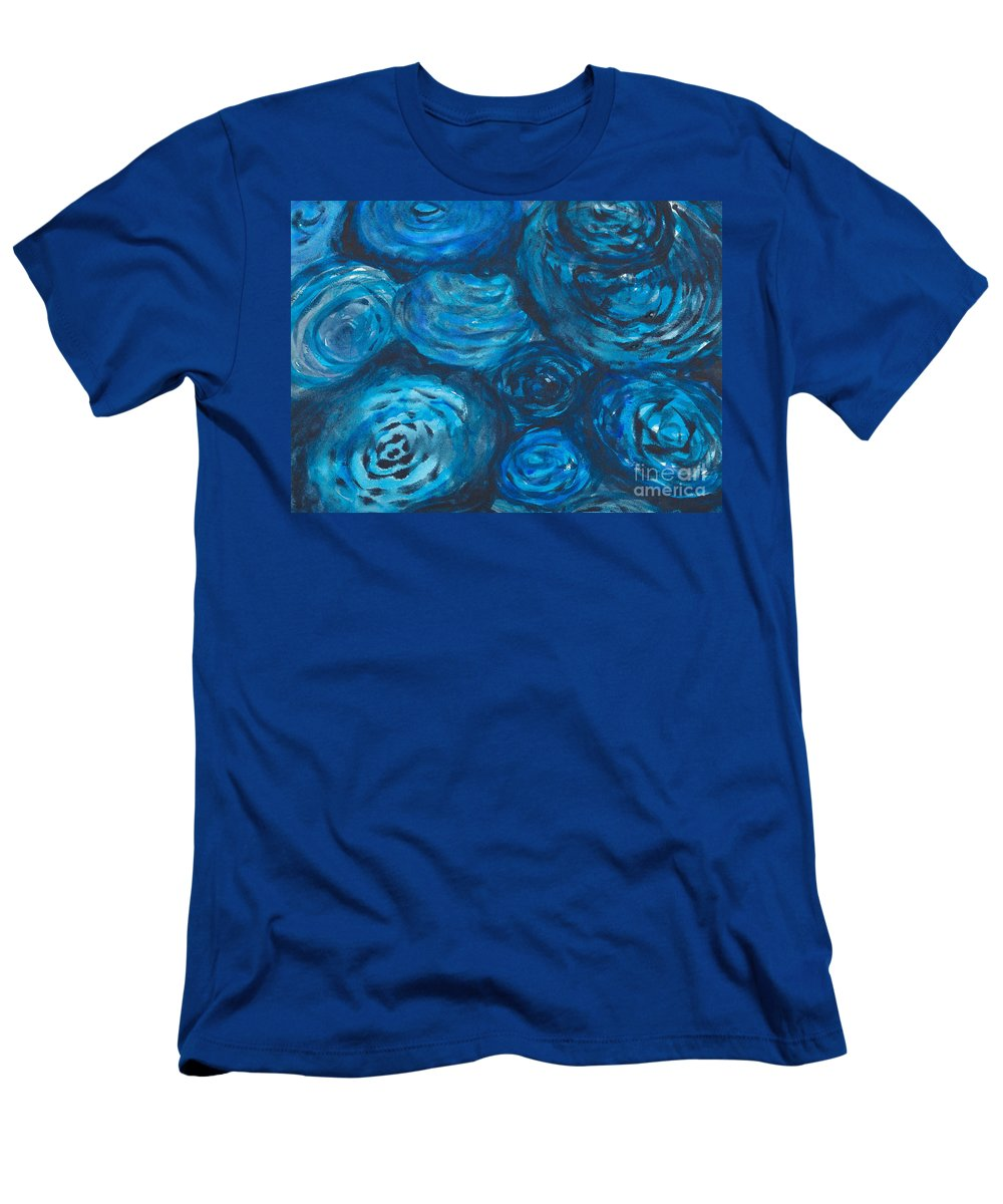 Abstract Men's T-Shirt (Athletic Fit) featuring the painting Abstract Watercolour Painting by Kerstin Ivarsson