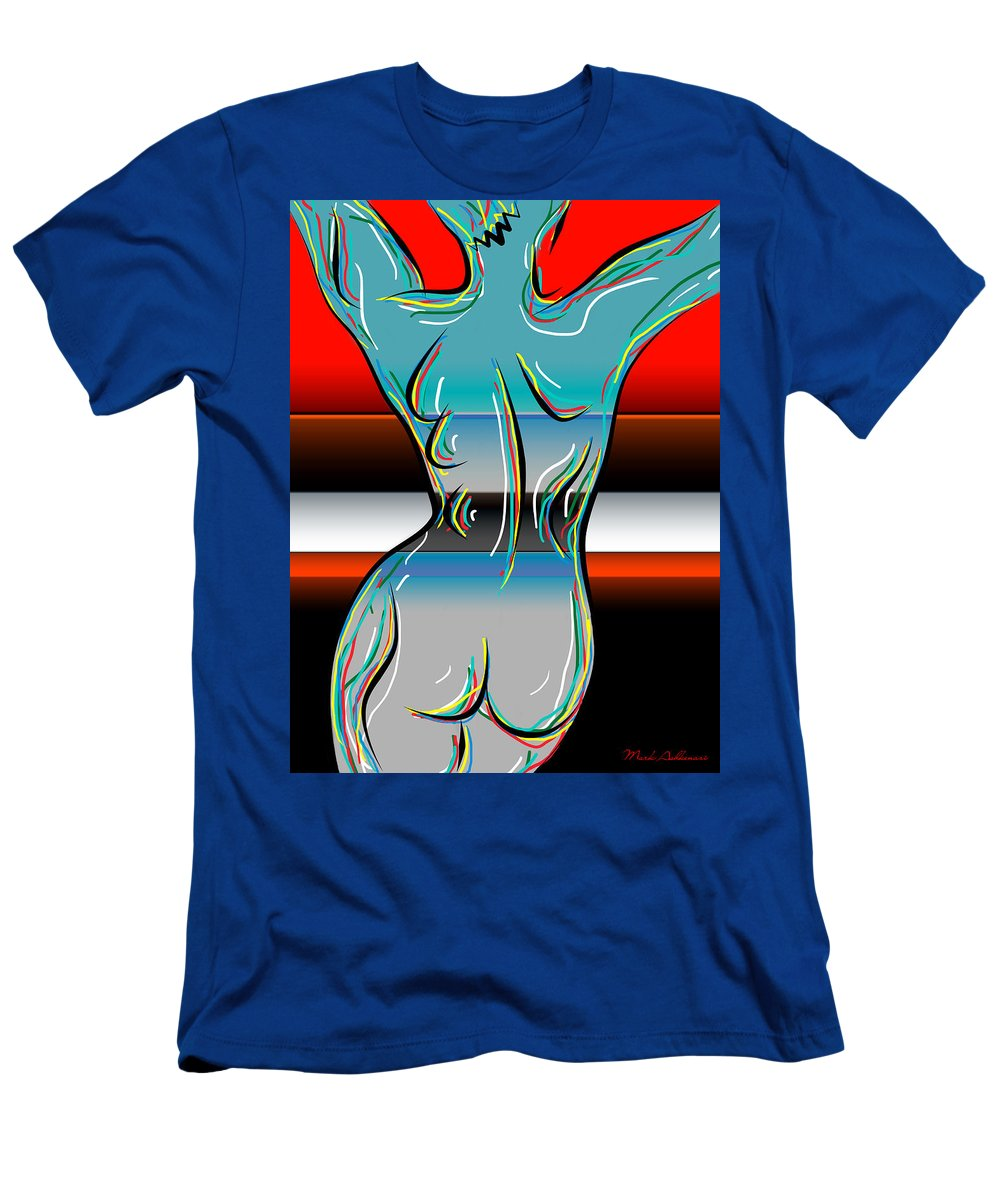 Nudity Men's T-Shirt (Athletic Fit) featuring the digital art Digital Nude by Mark Ashkenazi