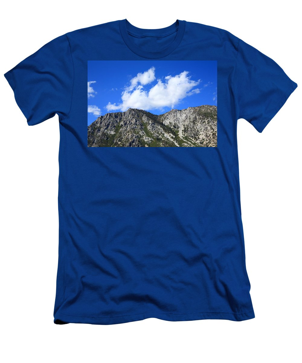 Alpine Men's T-Shirt (Athletic Fit) featuring the photograph Mountainside Near Lake Tahoe by Frank Romeo