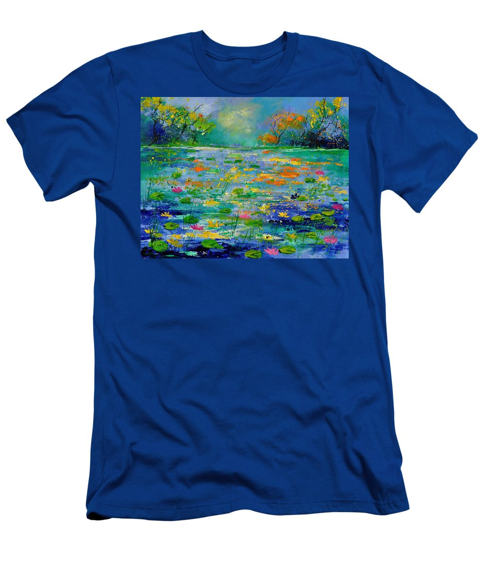 Landscape T-Shirt featuring the painting Pond 454190 by Pol Ledent