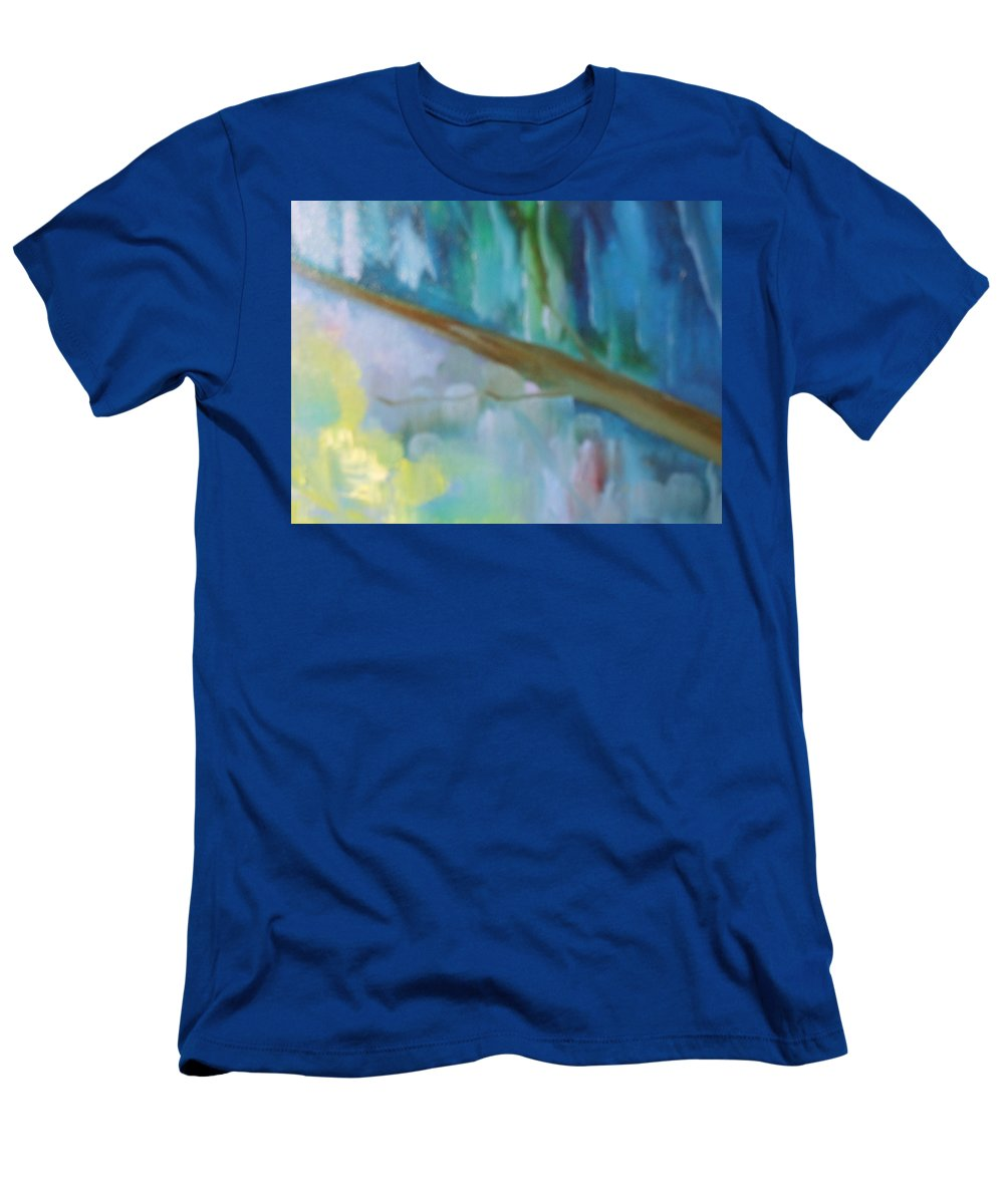 Water Men's T-Shirt (Athletic Fit) featuring the painting Roads by Lord Frederick Lyle Morris - Disabled Veteran