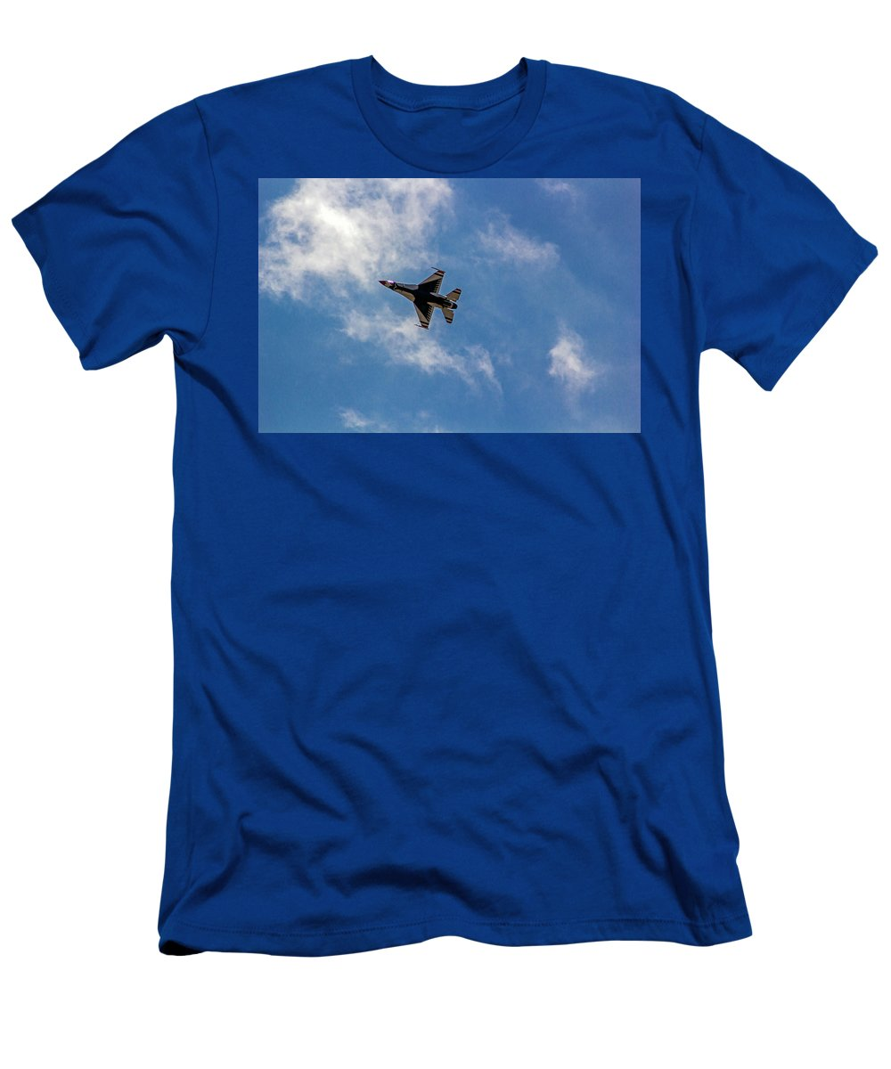 Rochester Men's T-Shirt (Athletic Fit) featuring the photograph Rochester Air Show Thunderbirds by Tim Buisman